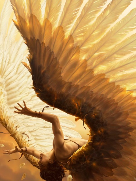 rene-milot-fall-of-icarus-illustration-painting-art-rene-milot